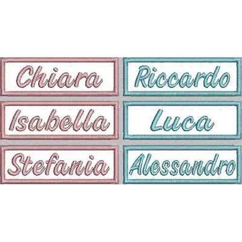 MAREL Patch 6 Piezas Nombre Niño Niña Guardería Delantal cm 7,5 x 2,5 Parche Bordado