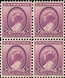 Susan B Anthony ~ Women's Rights (Scott #784) Block of 4 x 3¢ US Postage Stamps