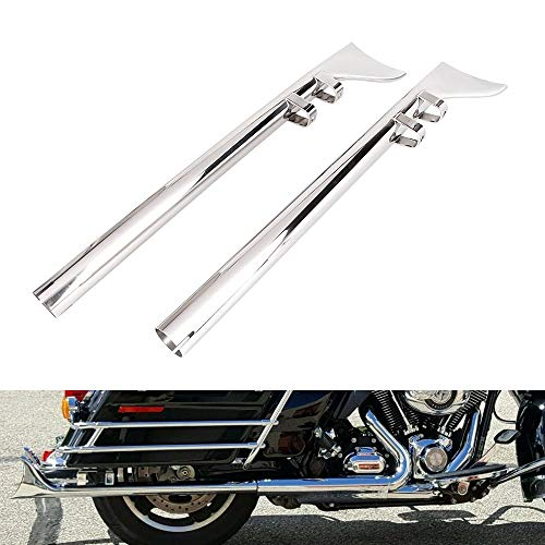 """GZYF Motorcycle Slip On 33"""" Exhaust Muffler Fishtail Drag Pipe Compatible with Harley Electra Glide, Road Glide, Road King, Street Glide, Ultra Limited 1995-2016"""