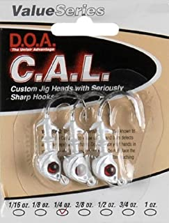 product image for DOA 1/4oz White C.A.L Jig Head