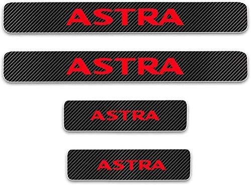 Para Opel Astra, Antiarañazos Placa Bienvenida,Coches StickerFibr Carbono Protectores De Coche, Antideslizantes Antirrayas