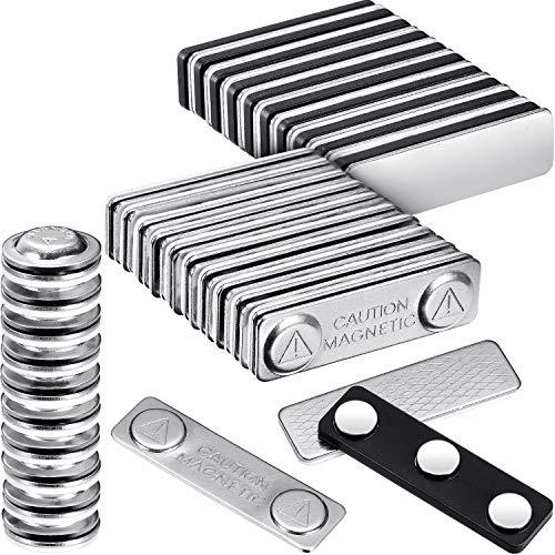 30 Stück magnetische Namensschild-Halter mit Stahlrückwand Namensschilder Namensschilder ID Badge Magnete und kleiner runder Namensschild Magnet, Verschluss mit Kleber auf der Vorderseite