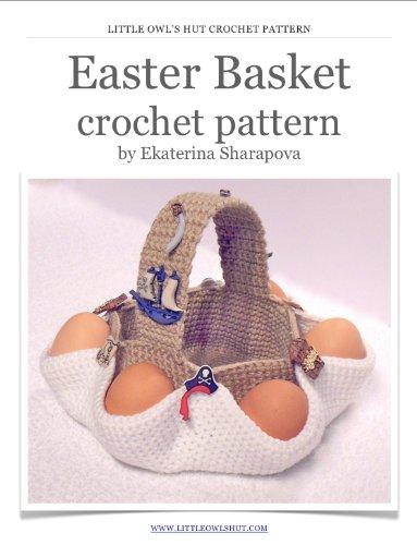 Easter gift small crochet basket Easter basket kids Easter eggs Amigurumi eggs egg hunt basket Easter hunt basket spring decor