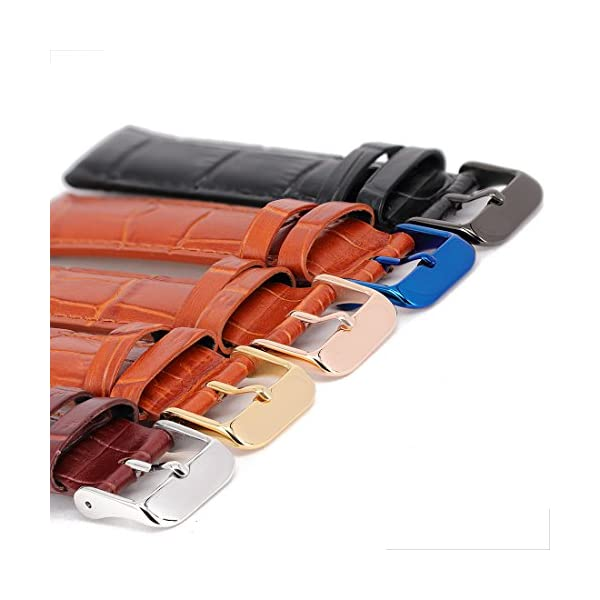 2 Pack Watch Straps Bands Buckle Replacement, Wellfit Watch Band Clasp, Choice of Color and Size, Vacuum PVD Finish