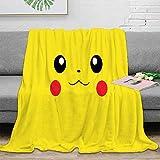 Elliot Dorothy Pikachu pokemon de dibujos animados TV Super suave manta camping manta transpirable acogedora cama manta 50 x 40 pulgadas