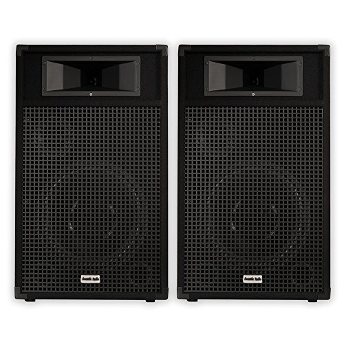 "Acoustic Audio BR12 Passive 12"" Speaker Pair 3 Way DJ PA Karaoke Band Speakers"