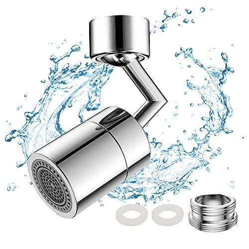 LbsAMP 720 ° Giro Giro Aeroador Agua Ahorro de agua Grifo Cocina Cuarto de baño Filtro de Bubbler Filtro con adaptador de boquilla