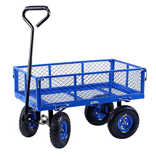 Umi. by Amazon- Lawn/Garden Utility Cart/Wagon Garden Heavy Duty Trolley...