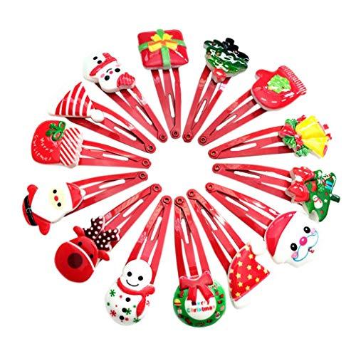 Tcn Mujeres nias Dibujos Animados Estilo navideo Horquillas, Pinzas de Pelo de mueco de Nieve BB envo Aleatorio, Pasador de Pelo de nia