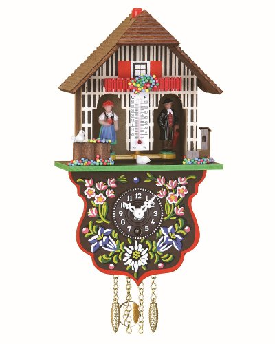 Reloj en miniatura de la selva negra casa de la selva negra casita meteorológica, incluye batería TU 805 PQ