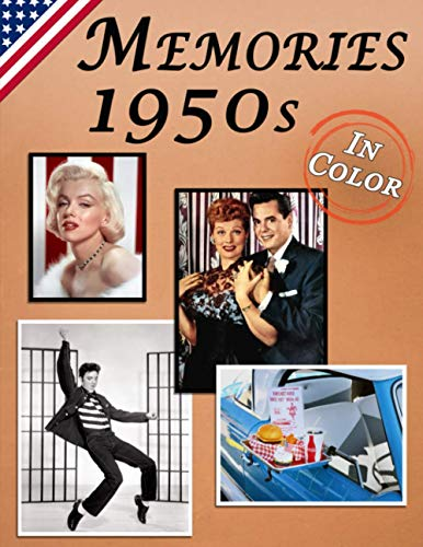 Memories: Memory Lane 1950s For Seniors with Dementia (USA Edition) [In Color, Large Print Picture Book] (Reminiscence Books)