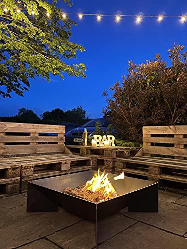 Fuego al aire libre grande brasero brasero jardín cuadrado mesa estufa patio calentador