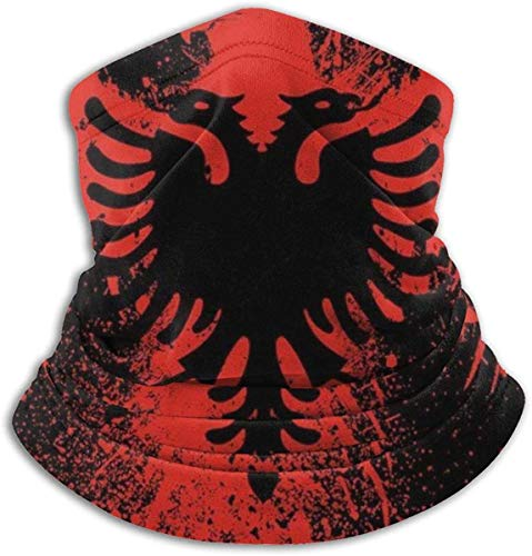 Neck Gaiter Warmer Windproof Mask Dust - Free UV Face Mask - Albanian Flag