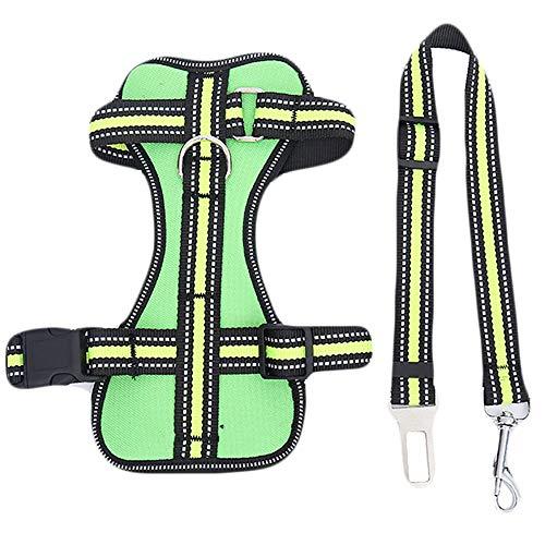 MARXIAO Hundegeschirr Für Große Hunde Anti, Ex-Wear-Resistant Bequeme Breathable Hundeweste Hundeleine Reflektierende Dog Rope-Brustgurt,E,S