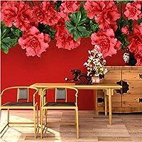 写真の壁紙3D立体空間カスタム大規模な壁紙の壁紙 サフラワーの壁の装飾リビングルームの寝室の壁紙の壁の壁画の壁紙テレビのソファの背景家の装飾壁画-450X300cm