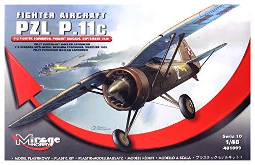 Mirage Hobby 481009 – Modèle Kit Fighter Aircraft PZL p.11 C