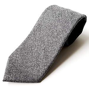 [パリス16ク] ネクタイ 日本製 ウール 毛 メンズ チェック ストライプ ネイビー ブラック グレー 無地 冬 8