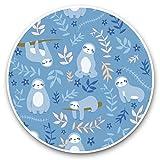 Impresionantes pegatinas de vinilo (juego de 2) 20 cm – patrón de perezosos azules de la selva Divertidas calcomanías para portátiles, tabletas, equipaje, reserva de chatarras, neveras, regalo fresco #44393