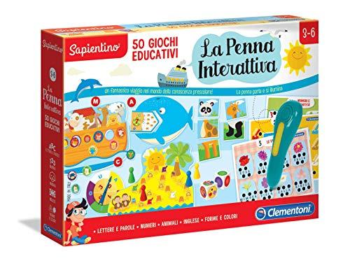 Clementoni- Sapientino-La Penna Interattiva 50 Giochi Educativi, Multicolore, 16212