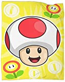 Super Mario Bros Toad Super Mario Bros Fleece Blanket Throw Size Lightweight Super Soft Blanket Improving Sleep Throw Blankets for beds Cover 60 x 50 inch