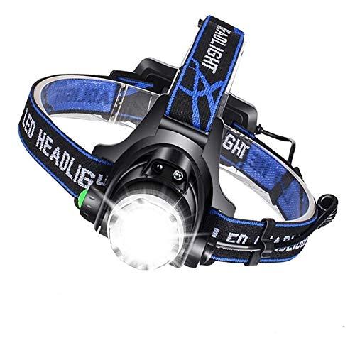 Lámpara de cabeza del LED Súper brillante T6 / L2 / V6 Lámpara de cabeza zoomable Linterna Linterna Linterna Lanterna con sensor de movimiento del cuerpo LED para el campamento (Tamaño: L2 Medio Brill