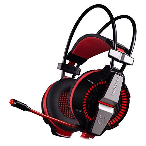 Auriculares Gaming Profesional IKOS | Cascos de Gamer para PS4, PC, Xbox | con Cable Reforzado y Micrófono | Sonido Envolvente 7.1 Dolby Surround | Producto Español