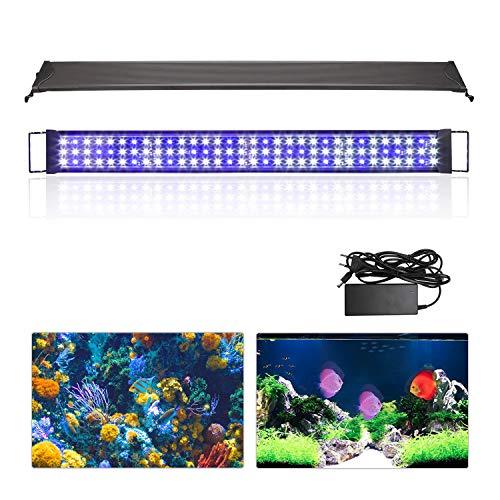Hengda Luz LED Acuario Ajustable Acuarios Plantados Lámpara impermeable Acuarios Plantados Lámpara Mejor para El Tanque de Peces de 92-120CM