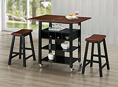 4D Concepts Phoenix Kitchen Island with 2 Stools from 4D CONCEPTS, LLC