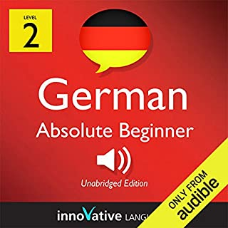 Learn German with Innovative Language's Proven Language System - Level 2: Absolute Beginner German                   By:                                                                                                                                 Innovative Language Learning                               Narrated by:                                                                                                                                 Judith Meyer,                                                                                        Chuck Smith                      Length: 19 mins     129 ratings     Overall 2.6