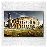 RHWXAX Coliseo Italia Old Building Roma Papel Tapiz Decorativo Posters e Impresiones Lienzo Arte de la Pared Pintura Moderna para la decoración del hogar 20x28 Inch Sin Marco