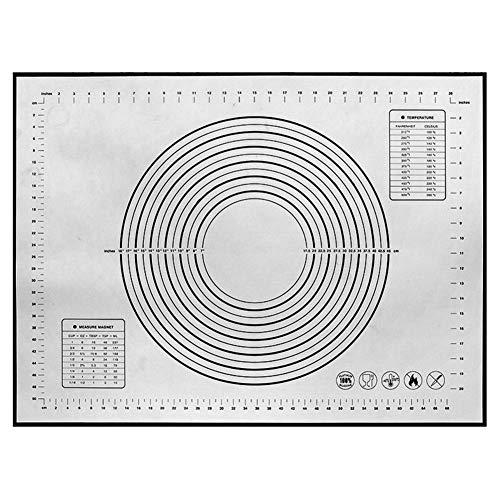 WFZ17 Tapis de cuisson antiadhésif en silicone pour pâtisserie - Noir - 40 x 60 cm