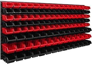 Opslagsysteem wandrek 1734 x 780 mm   127 stuks Box   Stapelboxen schudkast opslag dozen   Extra sterke wandplaten   Uitbr...