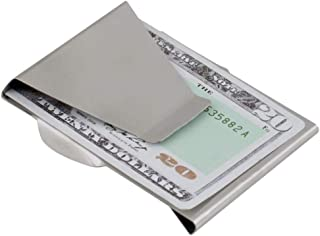 Stainless Steel Slim Money Clip Double Sided Credit Card Holder Wallet Clips
