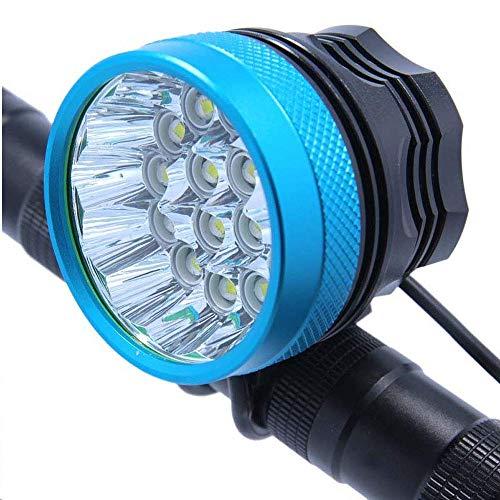 zyeziwhs Cycle Lights wasserdichte Fahrradlampe Scheinwerfer 20000 Lumen 12 X Xml T6 Led Fahrrad Radfahren Scheinwerfer + 18650 Akku + Ladegerät
