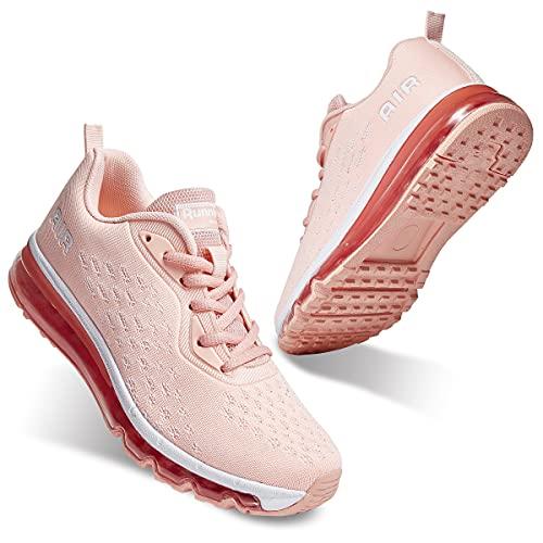 SIVIGR Calzado para correr - Zapatillas deportivas para correr, gimnasio, para caminar, que absorben los golpes Para Unisex Adultos [7 UK - Fa2 Rosa]