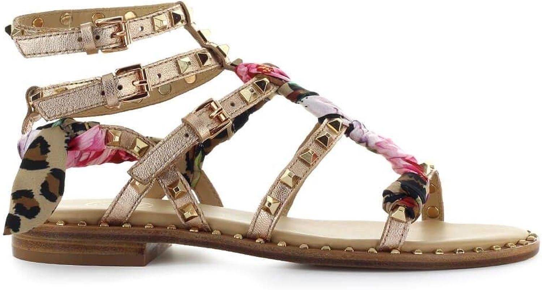 Ash Women's PAX05 Beige Leather Sandals
