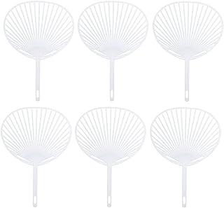 Healifty 20 Piezas japonesas Fan Uchiwa Kit DIY a Mano Ventilador Marco para la artesanía DIY (Blanco)