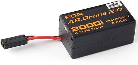 Jian Ya Na Ad alta densità 2000mAh 11.1V potente Li-Polymer batteria del rimontaggio per Parrot AR.Drone 2.0 quadcopter Aggiornamento Batteria Potente Confezione da 1 Nero