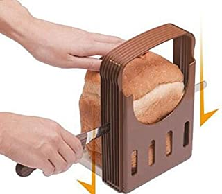 XKONG Broodsnijder, broodsnijder, een nuttige broodsnijder, 4 dikte instelbare Laibsnijder, opvouwbare toast bagelsnijder
