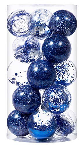 SLKING STORE Christmas Ball Ornaments 80mm/3.15' Shatterproof Clear Plastic Xmas Decoration Tree Balls for Holiday Festivals Party Decorations((20 Counts,Red)…