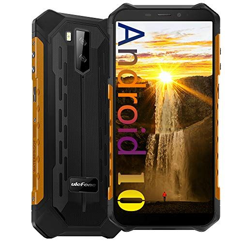 Ulefone Armor X5 Pro Unlocked Rugged Phone, Android 10 Octa-core 4GB+64GB, 13MP+2MP+5MP Triple Camera 5.5 inch Screen IP68 Waterproof Smartphone, 5000mAh Battery Dual 4G Smartphones US Version -Orange