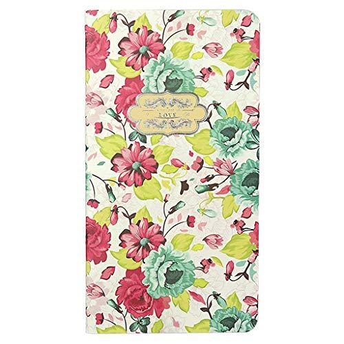 DYW-Tagebücher Floral Notebook Blank Interior 2019 terminarz zapisywania urodziny notebook dziennik artykuły piśmiennicze artykuły szkolne (kolor: B, rozmiar: 4 szt.)