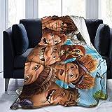 Gypsophila Cartoon The Croods Decke, übergroß, warm, für Erwachsene, superweiche Decke mit weichem Anti-Pilling Flanell für Erwachsene und Kinder, 3D-Druck, mehrfarbig, Größe: 127 x 102 cm