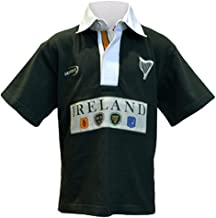 Traditional Craft Ltd. Green Ireland 4 Province Short Sleeve Kids Rugby Polo Shirt Top
