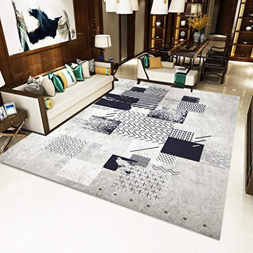 XQAQ modern minimalistisch tapijt voor woonkamer, tapijt in Noordse stijl met geometrische patronen, tapijt voor vloerbedekking en antislip 40*60CM E