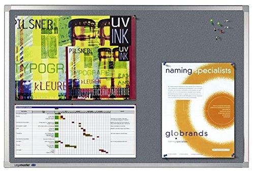 Legamaster 7-140663 Professional Pinboard Textil, 150 x 100 cm, grau