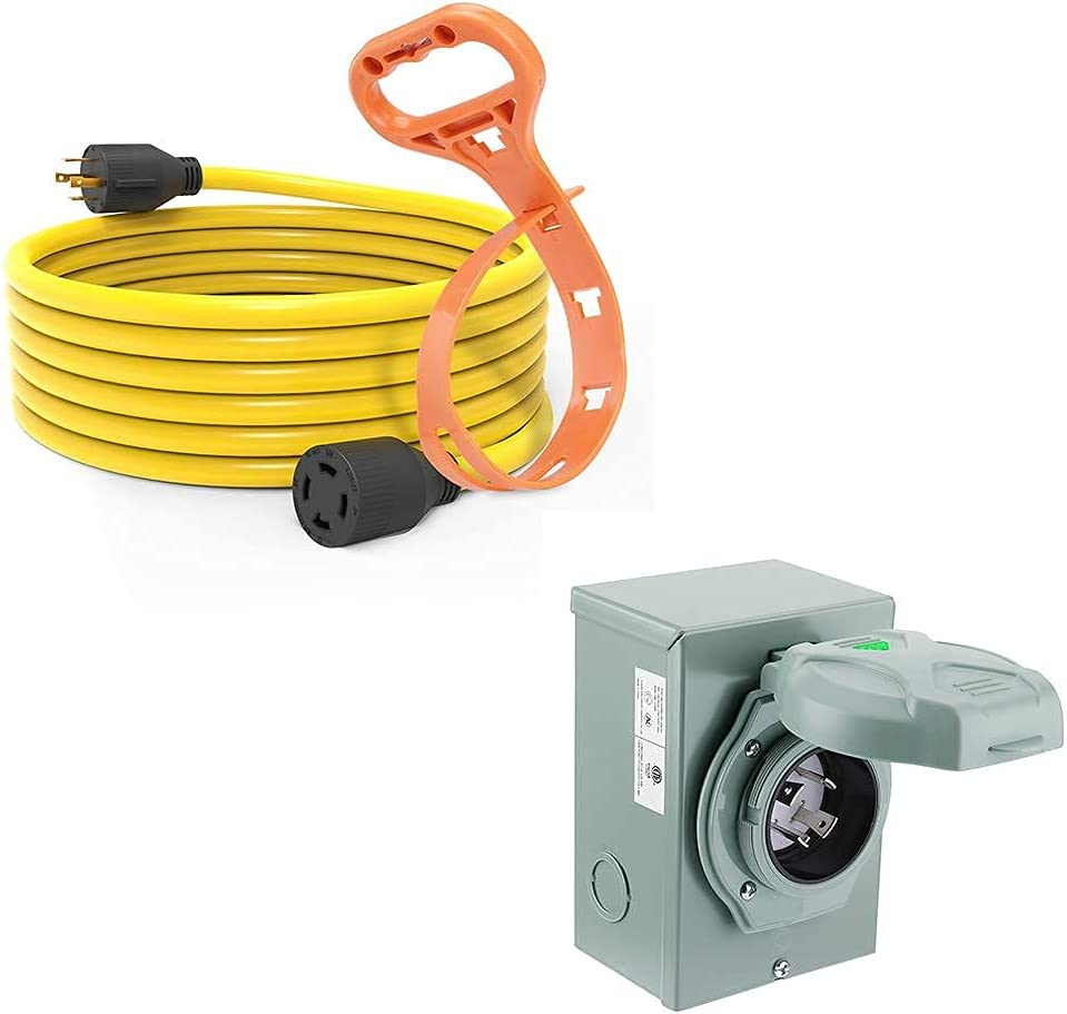 Buddle Items: BougeRV 30 Amp Extension 20ft,NEM Super beauty product restock quality Inexpensive top Cord Generator