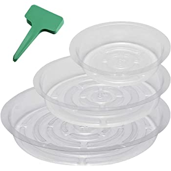 """Clear Plant Saucers 18 Pack Flower Pot Indoor Outdoor 6/"""" 8/"""" 10/'/' each of 6 pcs"""