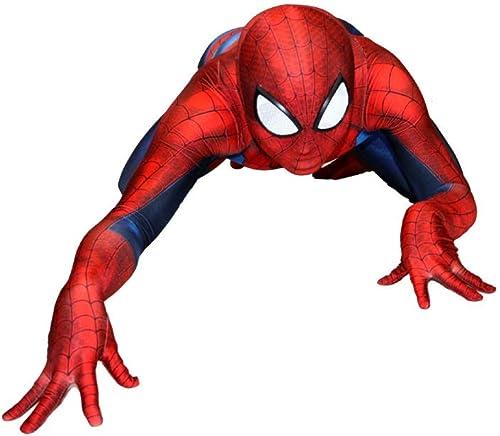 WEGCJU Spiderhomme Cosplay Costume HalFaibleeen Perforhommece Costume Superhero Outfit Body Combinaisons Tenue Fête DéguiseHommest Hero HalFaibleeen Cosplay,XXL