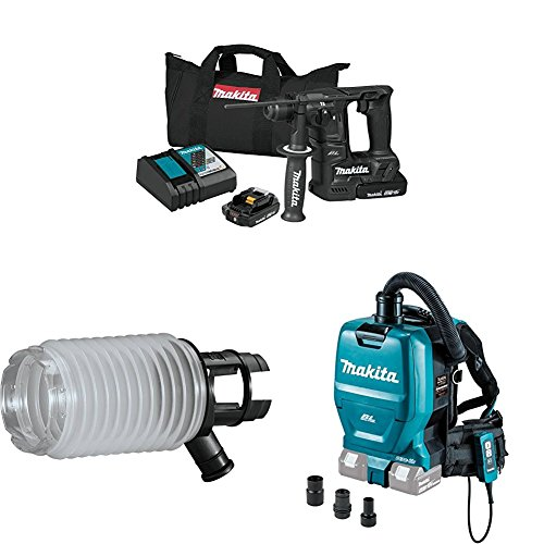 Sale!! Makita XRH06RB 18V LXT Sub-Compact Brushless 11/16 Rotary Hammer Kit, 198362-9 Dust Extracti...